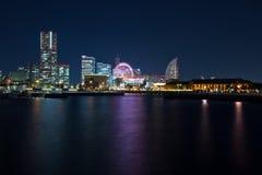 Yokohama city at night Stock Image