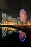 Yokohama city skyline at nigh Stock Image