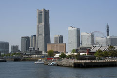 Yokohama cityscape. Japan,Yokohama cityscape modern buildings downtown royalty free stock image