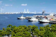 Yokohama commercial port Royalty Free Stock Image