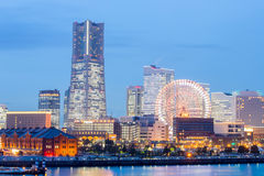 Yokohama at dusk Royalty Free Stock Photo