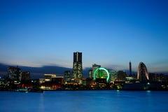 Yokohama en la oscuridad Imagenes de archivo