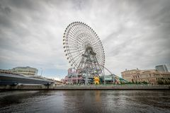 Yokohama Ferris Wheel, Japan royaltyfria bilder
