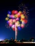 Yokohama-Feuerwerke Stockbilder