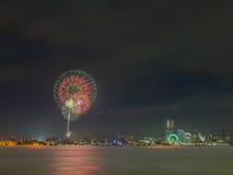 Yokohama firework Stock Photography