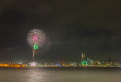 Yokohama firework Stock Photo