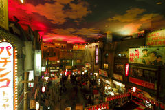 YOKOHAMA, GIAPPONE - 12 MARZO 2012: museo diShin-Yokohama Raumen, de Fotografie Stock Libere da Diritti