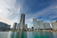 Yokohama-Grenzstein-Kontrollturm Lizenzfreie Stockfotos