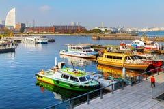Yokohama-Hafen in Japan Lizenzfreie Stockbilder
