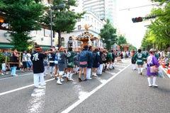 Yokohama: Het fonkelen Schemering stock fotografie