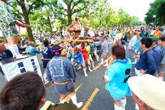 Yokohama: Het fonkelen Schemering royalty-vrije stock foto's