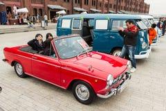 Yokohama Historische Auto Dag 2013 Stock Foto