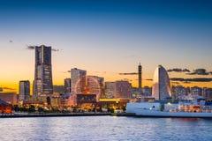 Yokohama horisont Royaltyfria Bilder