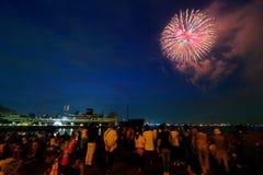 Yokohama: Iskrzasty zmierzch Fotografia Royalty Free
