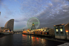 Yokohama, Japan. Water view of downtown Yokohama, Japan Stock Images
