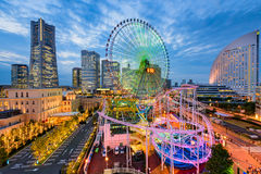 Yokohama, Japan Cityscape. At dusk Stock Images