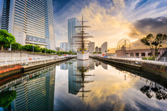 Yokohama, Japan Dawn Stock Photo