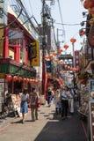 Yokohama - Japan, am 16. Juni 2017; Buntes und verziertes Einkaufen Lizenzfreies Stockbild