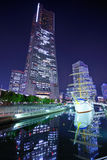 Yokohama, Japan at Night Stock Image