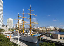YOKOHAMA, JAPAN - November 24: Nippon Maru in Yokohama, Japan on Royalty Free Stock Photo