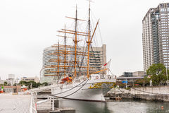 YOKOHAMA, JAPAN - November 6: Nippon Maru in Yokohama, Japan Royalty Free Stock Image