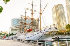 YOKOHAMA, JAPAN - November 24: Nippon Maru in Yokohama, Japan on. November 24, 2015. Nippon Maru was a training ship for the cadets of the Japanese merchant Royalty Free Stock Photos
