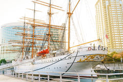 YOKOHAMA, JAPAN - November 24: Nippon Maru in Yokohama, Japan on. November 24, 2015. Nippon Maru was a training ship for the cadets of the Japanese merchant Royalty Free Stock Photography