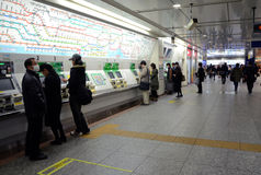 Yokohama, Japan - November 27: people buy the ticket at Yokohama Stock Image