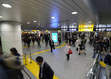 Yokohama, Japan - November 27: people who cross train station in Royalty Free Stock Image