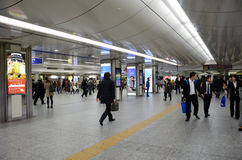 Yokohama, Japan - November 27: people who cross train station in Stock Photography