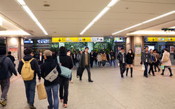 Yokohama, Japan - November 27: people who cross train station in Stock Images