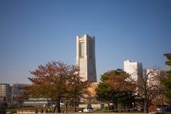 YOKOHAMA JAPAN, NOVEMBER 12th 2015 Redaktörs- foto av Minato Mirai i den Yokohama staden Royaltyfri Bild