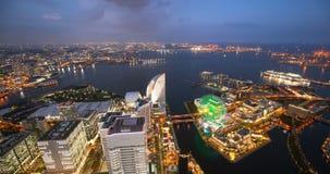 yokohama japan skyline day to night stock video footage