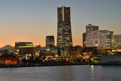Yokohama, Japan skyline with mount Fuji Stock Image