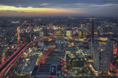 Yokohama Japan stadshorisont royaltyfria bilder