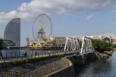 Yokohama, Japonia -, Czerwiec 15, 2017; Widok Cosmo zegar 21, gi Zdjęcia Royalty Free