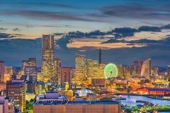 Yokohama, Japonia miasto linia horyzontu zdjęcia stock
