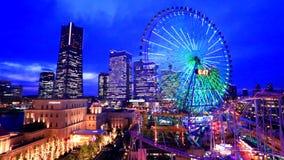 Yokohama Minato Mirai at dusk Royalty Free Stock Image