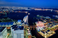 Yokohama Minato Mirai Night view. Night View of Minato Mirai 21 in Yokohama Stock Images