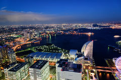Yokohama Minato Mirai Night view. Night View of Minato Mirai 21 in Yokohama Royalty Free Stock Photo
