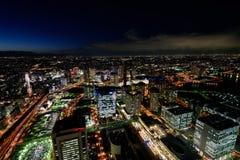 Yokohama Minato Mirai Night view Royalty Free Stock Photo