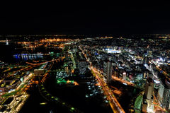 Yokohama Minato Mirai Night view Royalty Free Stock Images