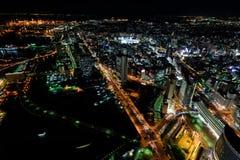 Yokohama Minato Mirai Night view Stock Photos
