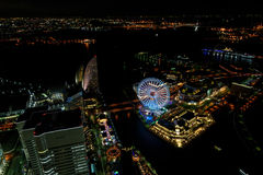 Yokohama Minato Mirai Night view Stock Images