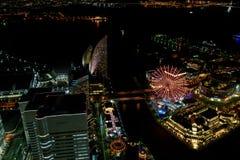 Yokohama Minato Mirai Night view Royalty Free Stock Image