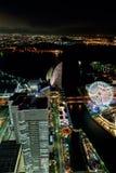 Yokohama Minato Mirai Night view Stock Photography