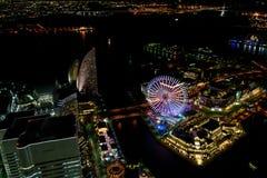 Yokohama Minato Mirai Night view Royalty Free Stock Photography