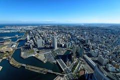 Yokohama Minato Mirai 21. View of Minato Mirai 21 in Yokohama, Japan in winter Royalty Free Stock Photography