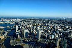 Yokohama Minato Mirai 21. View of Minato Mirai 21 in Yokohama, Japan in winter Stock Photo