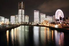Yokohama Minatomirai 21 (night scene) Stock Photos